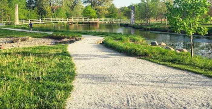 soft path along ponds example